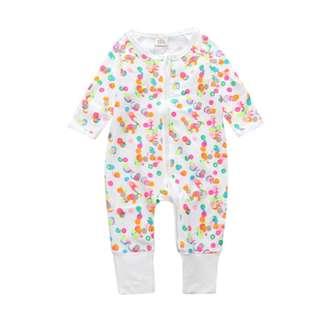 (PRE-ORDER) STYLISH INFANT PRINT ROMPER LONG SLEEVE JUMPSUIT