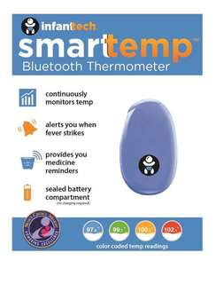 Smarttemp thermometer for infant baby kids fever spike