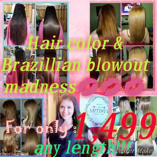 50% off promo brazillian blowout and hair color💋