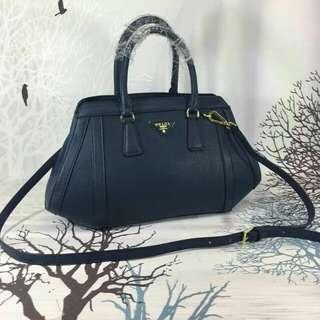Prada Handbag Navy Blue