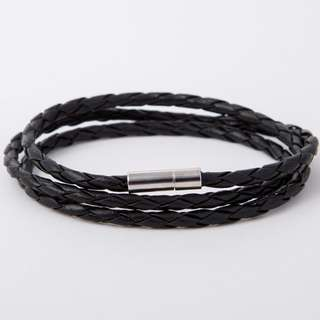 Retro Black - Braided Leather Bracelet | Gelang Kulit Unisex
