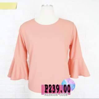 Coral Bellsleeves Top Plussize