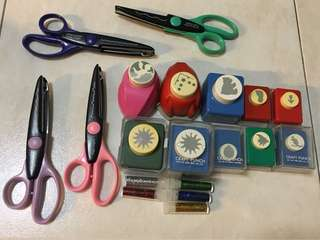 Craft Scissors and Punch