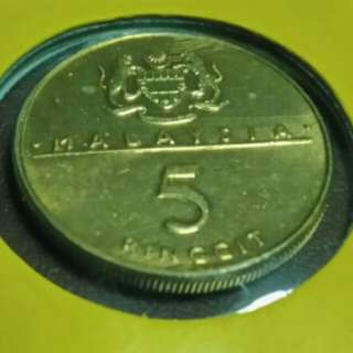 5 Ringgit Commonwealth head of gov.meeting 1989
