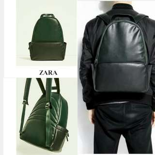 ZARA URBAN BACKPACK  GREEN COLOR (UNISEX BAG)