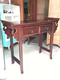 Antique rosewood altar