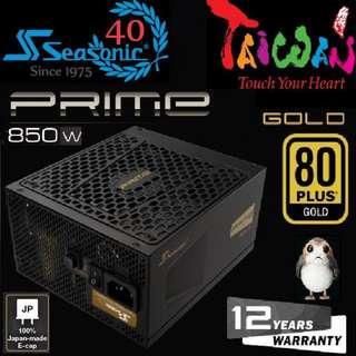 Seasonic PRIME 850W Gold power supply..