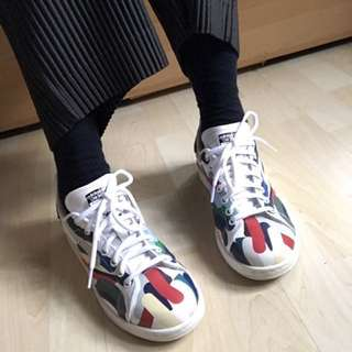 〽️絕版 Adidas Stan smith 彩繪鞋