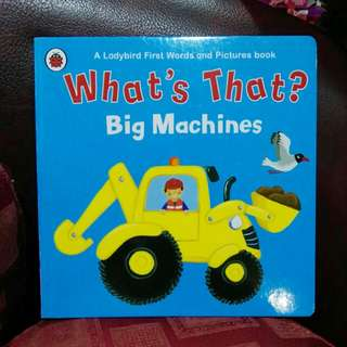 First words and picture book - Big Machines