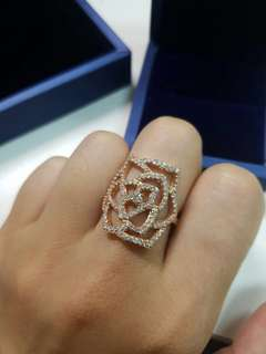 New .67 carat diamond ring - rose gold Hermes Chanel