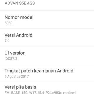 Advan S5E 4GS 4G os.7.0 masih segel