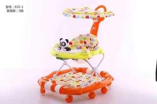Orange3 in 1 Walker Rocker Stroller with Handle & Canopy