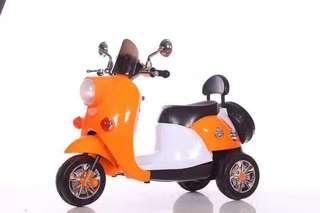 Orange Rechargeable Ride On Motorcycle Big Bike