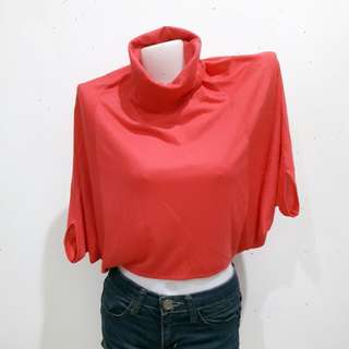 Batwing Turtle Neck Top
