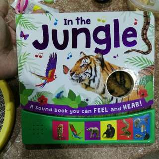Jungle sounds and touch book