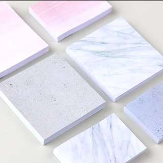 [IN] [SN] Marble / Concrete / Pink Sticky Notes