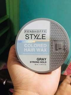 Color gray wax