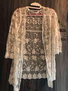 透明蕾絲罩衫(近新)
