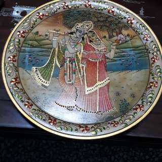 antique LORD RAMA& SITA /RAJASTAN JAIPUR MARBEL & ARTS  12 INCHES DIAMETER IN MARBEL /FIXED PRICE
