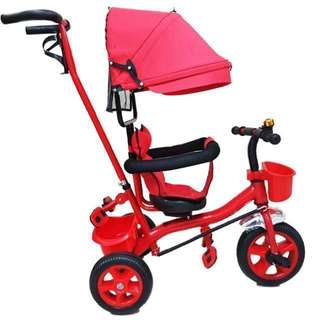 4 in 1 Red Bike Stroller with Handle