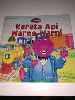 Barney, Kereta Api Warna Warni, Buku Cerita Anak