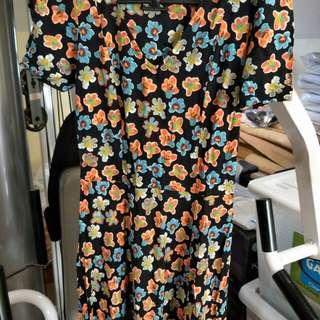 Topshop Floral Cotton Short Dress