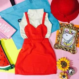 Heart jumper dress