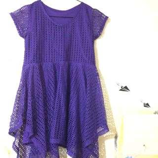 Purple dress 7/8