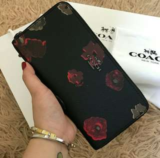 Coach Wallet with Floral Print