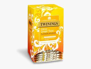 Twinnings CITRUS GINGER TWIST - 20 PYRAMID BAGS (INDIVIDUALLY WRAPPED) 川寧柑橘薑茶 20個茶包裝(獨立包裝)