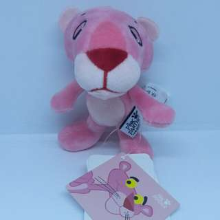 "Brand New 3.5"" Pink Panther Pinky Pretty Figurine Plush Stuffed Soft Toy Keychain Bag Charm"