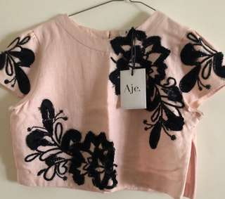 Aje size 10 cropped top RRP450