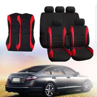 Car Seat Cover Universal Fit Car Styling Car Cover Seat Protector (Red)
