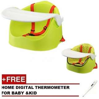 Multifunctional Portable Baby Chair With Booster Cushioned Seat (Free Digital Thermometer)