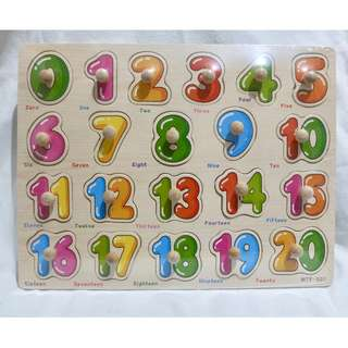 Wooden Peg Puzzles - Numbers