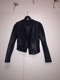 Zara Faux Leather Jacket in Black