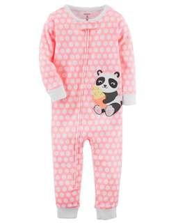 Carter's zip up footless panda bear Pyjamas
