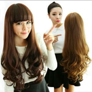 Preorder Curly wavy 70cm long ladies wig * waiting time 14 days after payment is made *pm to order