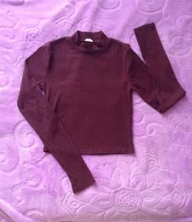 Garage burgundy croptop