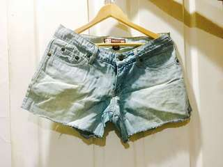 Faded Plus Size Denim Short