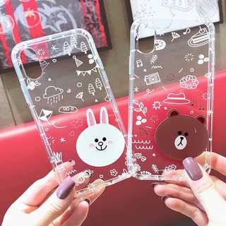 熊大iphone手機殼透明硅膠軟防摔保護套