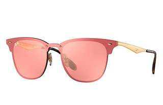 Ray ban blaze club masters rose gold