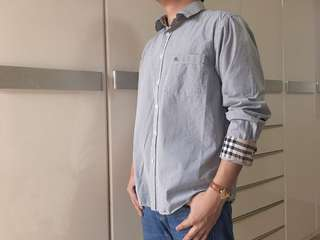 Auth Burberry for men long sleeve polo