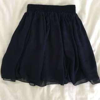 Navy Blue Skirt