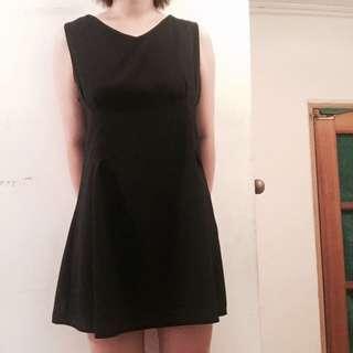 Vieso西裝無袖修黑身洋裝