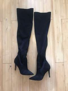 Aldo black over the knee boots
