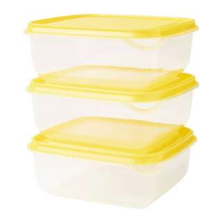 PRUTA FOOD CONTAINER TRANSPARENT YELLOW