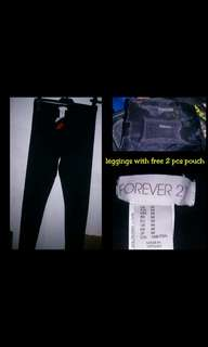 Forever 21 leggings with free pouch