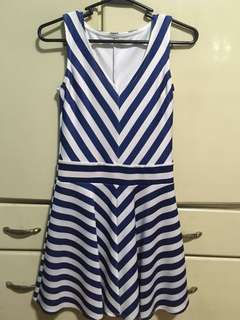 Blue and white french dress