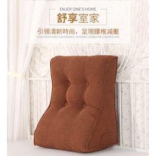 超舒適柔軟三角護腰床頭沙發靠枕